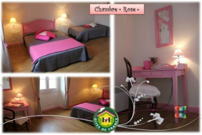 CHAMBRE ROSE PLURI PHOTOS